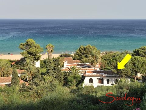 Position Villa ToreMari at Costa Rei