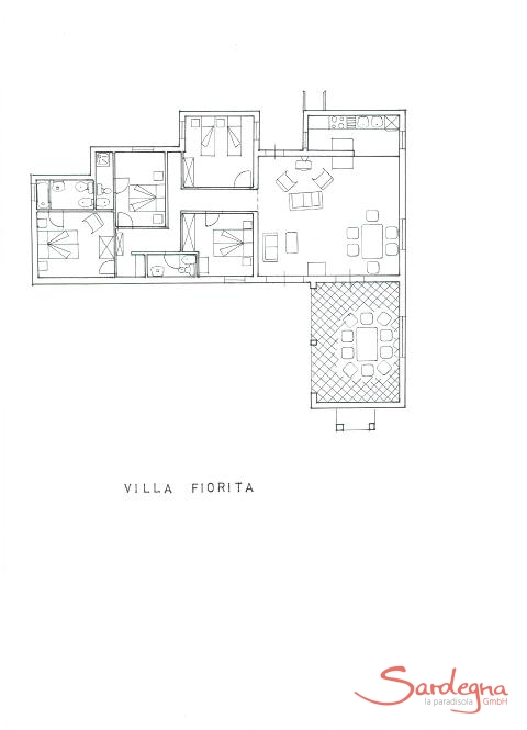 Floorplan of Villa Fiorita