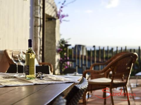 Perfect place to enjoy a glass of wine during beautiful sardinian sunsets