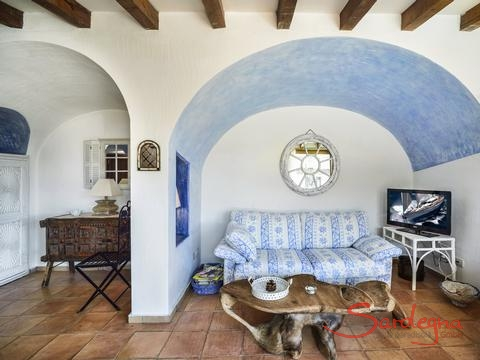 Living room in Costa Smeralda style