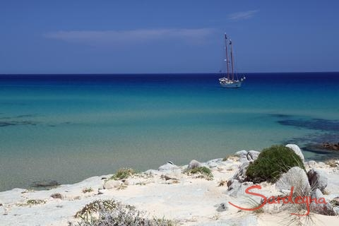 Beacht in the south of Sardinia