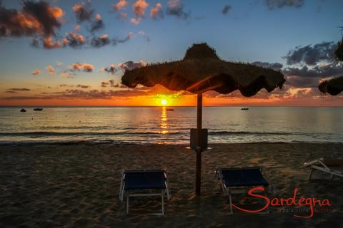 Sunrise at Cala Sinzias beach