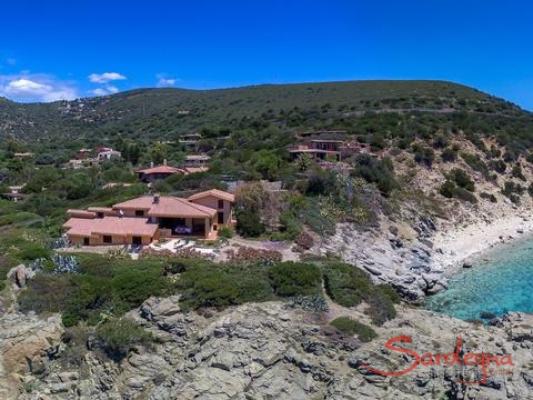 Aerial view Villa delle Stelle and environment