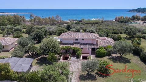 Airview of the house with the sea in the background